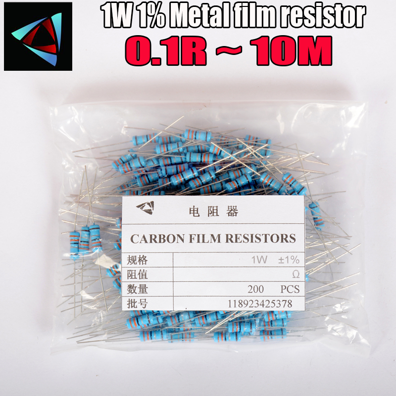 200PCS 560 ohm 1//2W Metal Film Resistor //-1/% 0.5W 560R