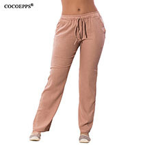 COCOEPPS-Women-Casual-Chiffon-Pants-Big-Size-Solid-Summer-Female-Trousers-2019-Large-Size-Drawstring-Elastic