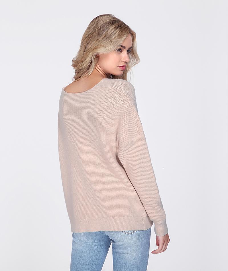 Autumn Winter Knit Pullovers Women