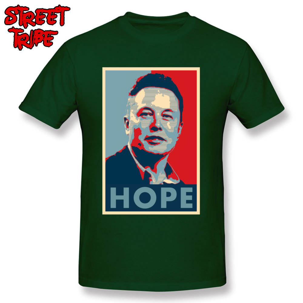 Elon Musk Hope Poster 1459 Printed On Thanksgiving Day Pure Cotton Crew Neck Mens Tops & Tees T-shirts Short Sleeve Top T-shirts Elon Musk Hope Poster 1459 dark