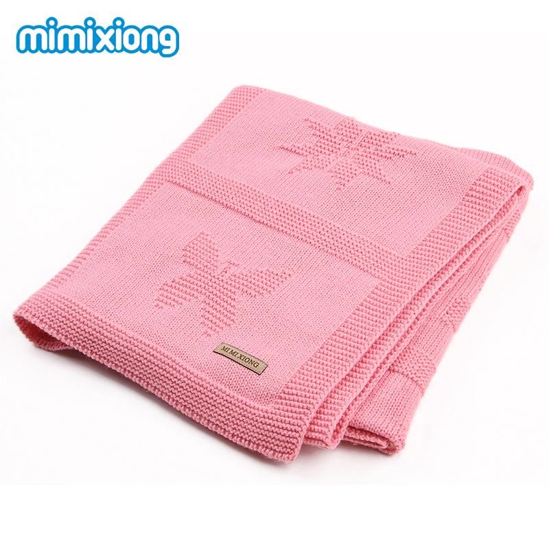 Flower Knit Muslin Baby Swaddling Blanket Infant Newborn 2018 Toddler Boys Girl Throwing Blanket Quilt Winter Sofa Bedding Cover