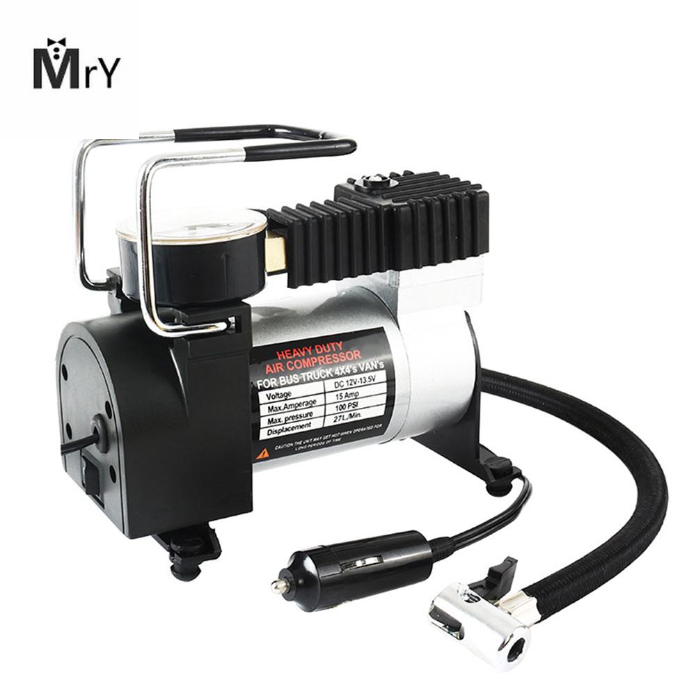 Portable Super Flow DC 12V 80PSI Metallo Compressore daria Gonfiatore Pompa di aria auto Pompa veicolo Manometro elettrico