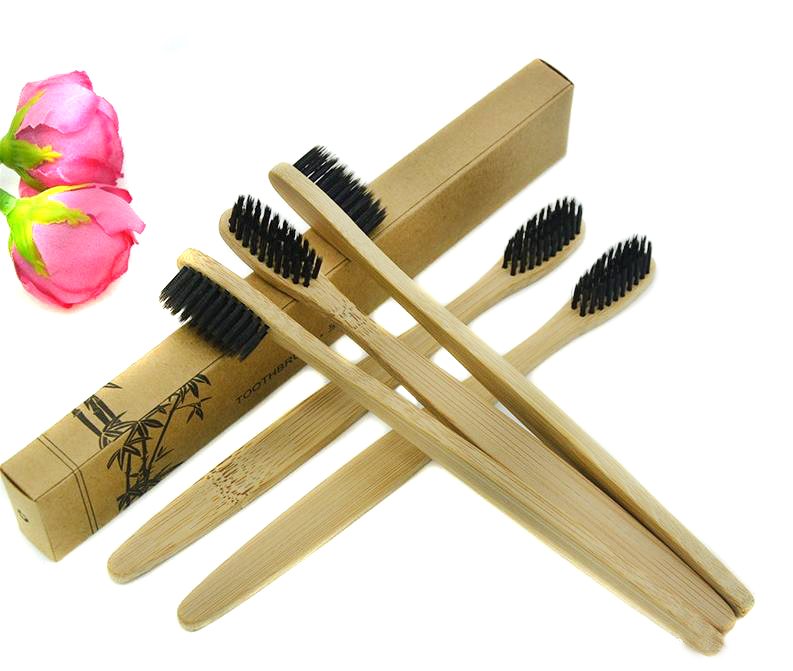 Hot Sale Personalized Bamboo Toothbrushes Tongue Cleaner Denture Teeth Travel Kit Tooth Brush Wood Toothbrush