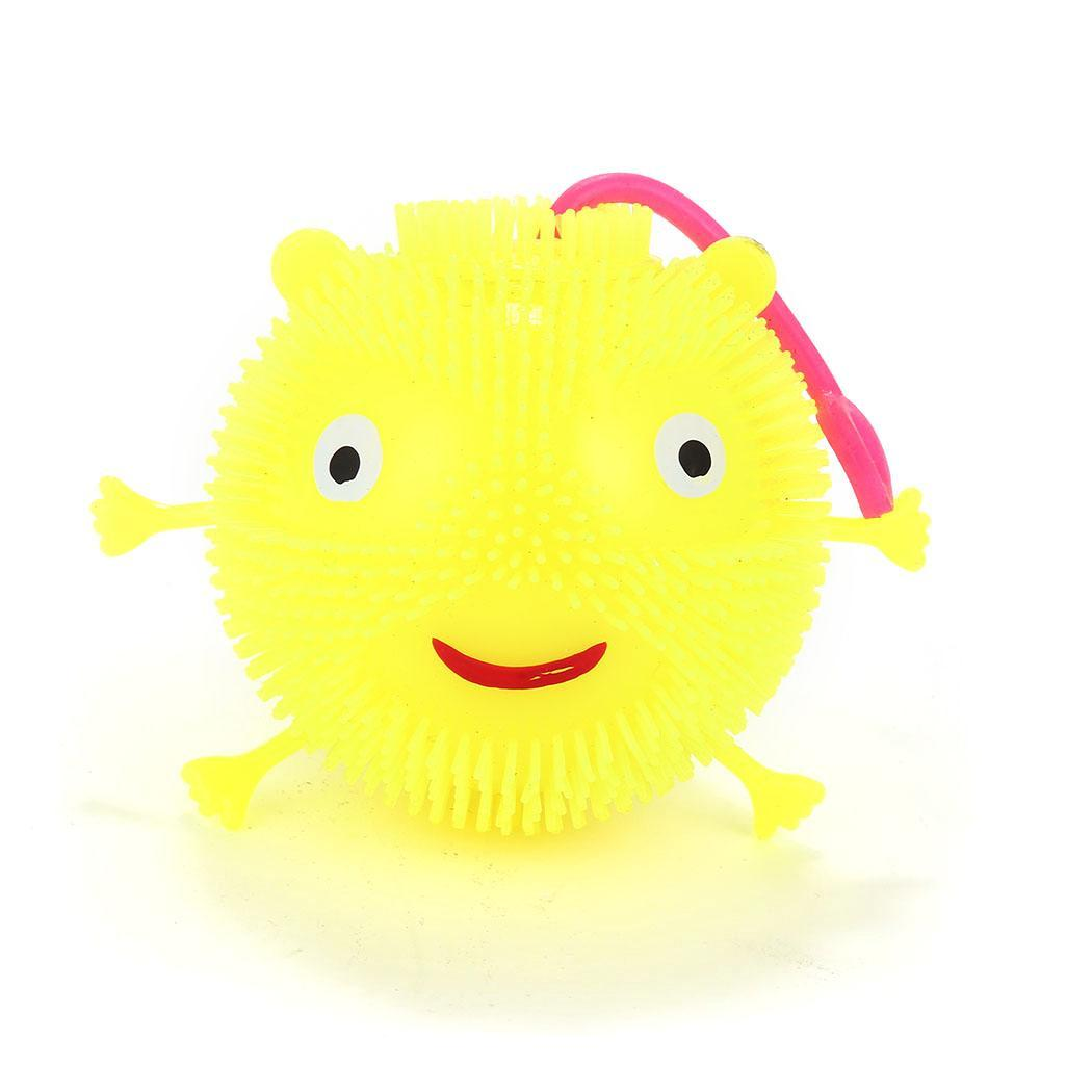 Kids Cute LED Light Up Flashing Hedgehog Rubber Bouncy Ball Squeaky Toy Fashion New Toys & Hobbies