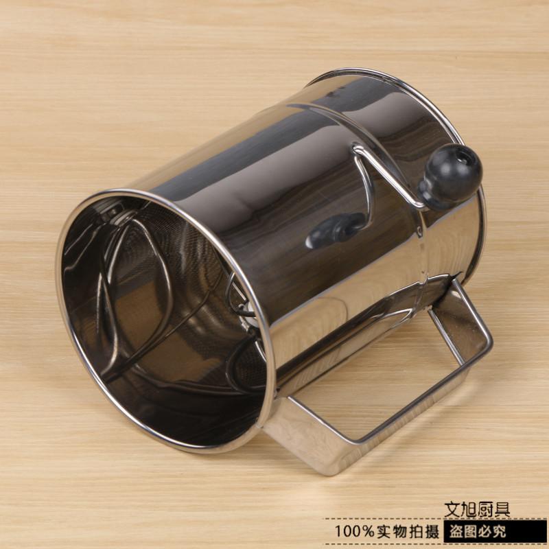 Medio de acero inoxidable, pantalla de harina de mano de extremo liso por favor Tipo de soporte de mano de manija de pantalla de harina de función múltiple