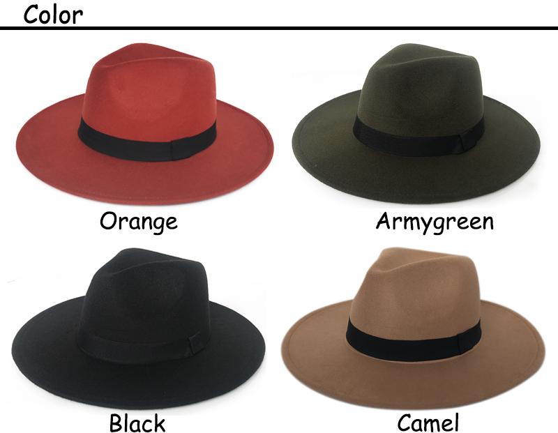 4 colors felt cap