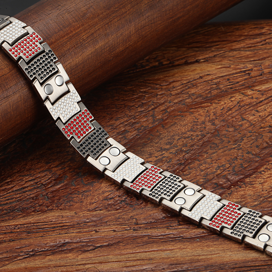 silver gold Titanium Bracelets (14)