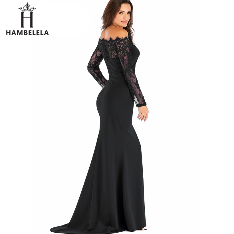HAMBELELA Robe De Soiree Longue Long Sleeve Mermaid Evening Dresses Formal Evening Gowns China Vestido Longo Bodycon Lace Dress (5)