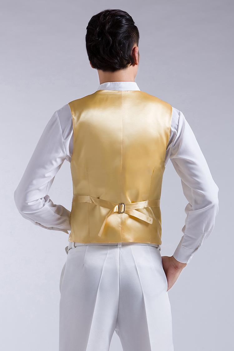 Mens Wedding Stage Show Gold Shiny Sequins Waistcoat Blue Black Silver Pink Rose Yellow Suit Vest Gilet Homme Classic Vests