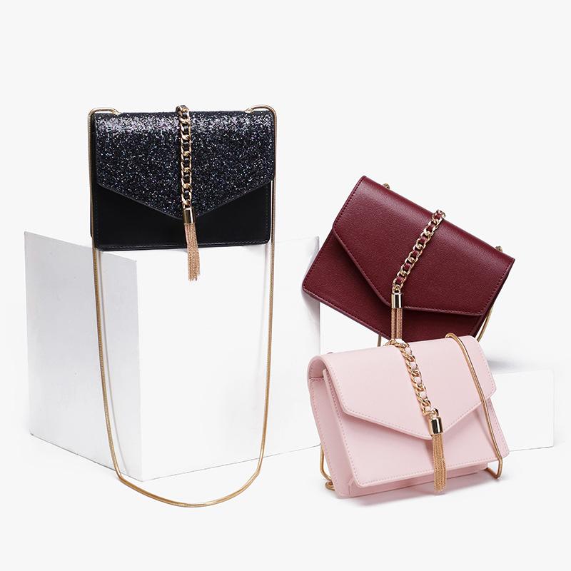 Color : Pink LXYFMS Fashion Party Bag Sweet Beauty Shoulder Bag Ladies Handbag