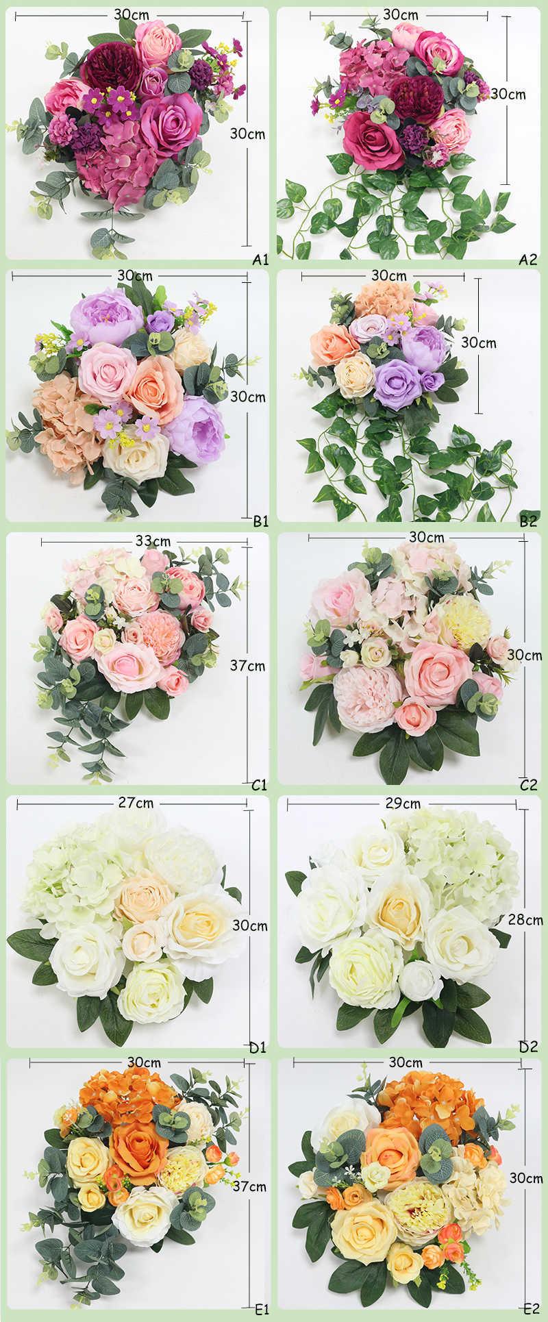JAROWN Artificial Rose Flower Row Small Corner Flowers Simulation Silk Fake Flowers Wedding Decor Home Garland Decor Flores (218)