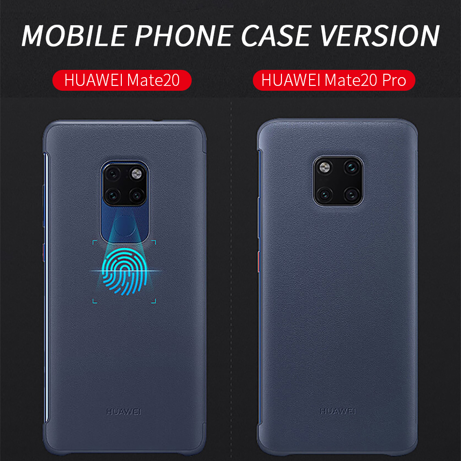 2Huawei Mate 20 Pro Flip Case Cover Official Huawei Mate 20 case Smart View Window PU Leather Luxury Protective Wake up mate20