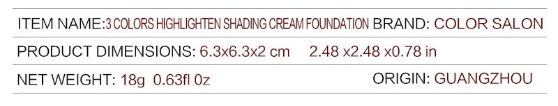 ZOEDGL Hide Blemish Face Eye Lip Makeup Foundation Professional Concealer Cream