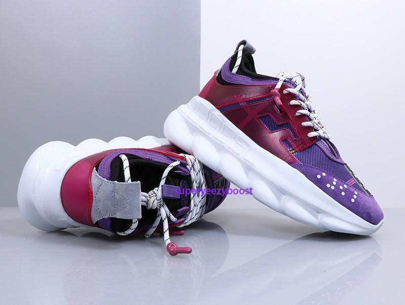2019 Luxury Chain Reaction Designer Shoes Mens Womens Italy Fashion District Medusa LUX Chaussures De Homme Femme Size 36-45