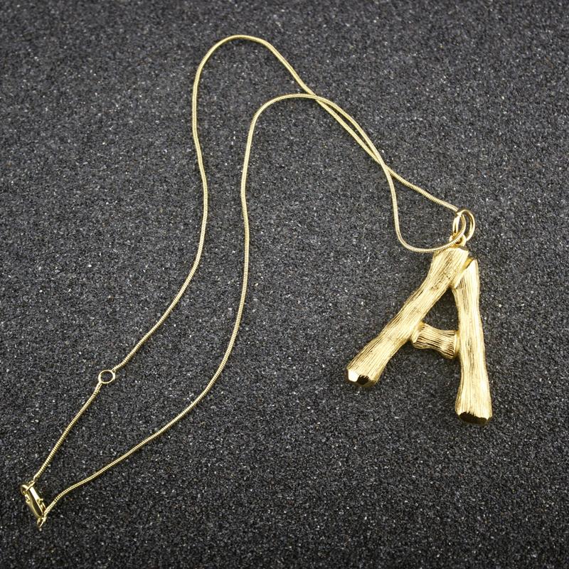 Western Bolo Tie mit Buchstabe N Bolotie 24 ct Goldauflage