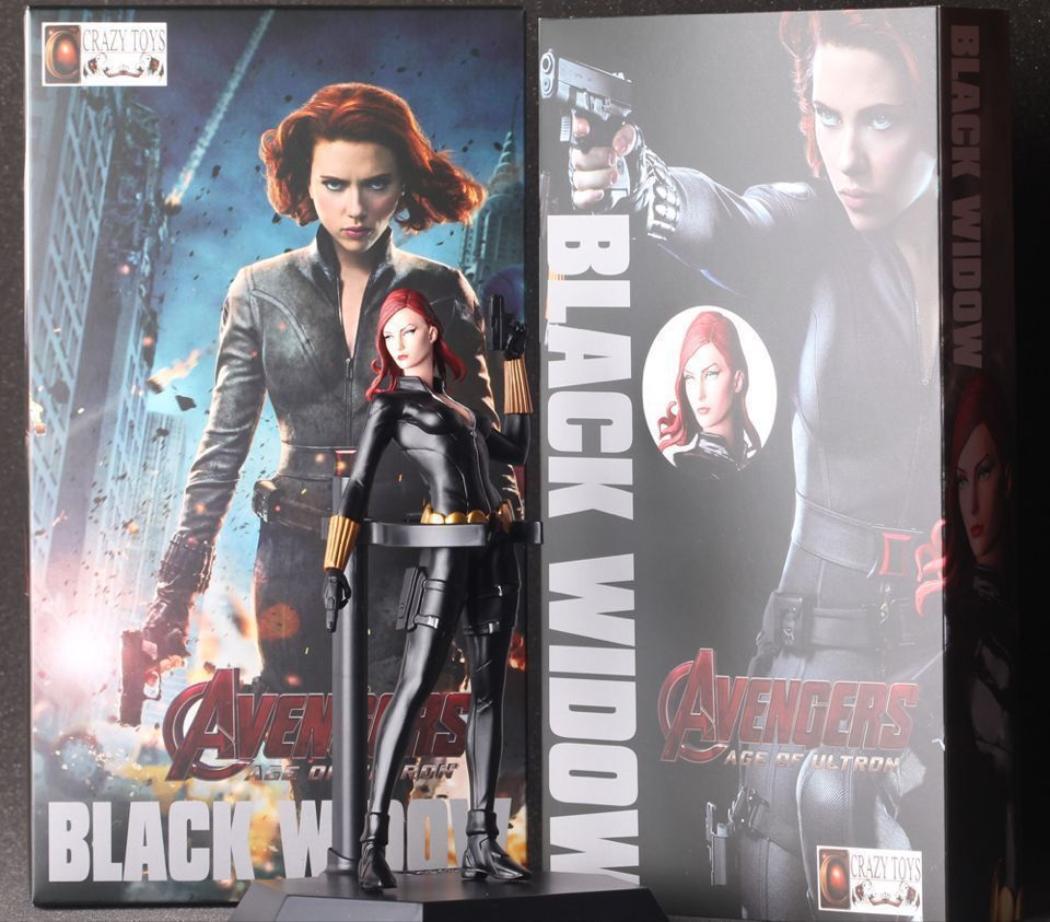 Avengers Black Widow Cartoon Figure Anime Movie Model Lovely Action Figures Collectible Model Kids Toys (1)