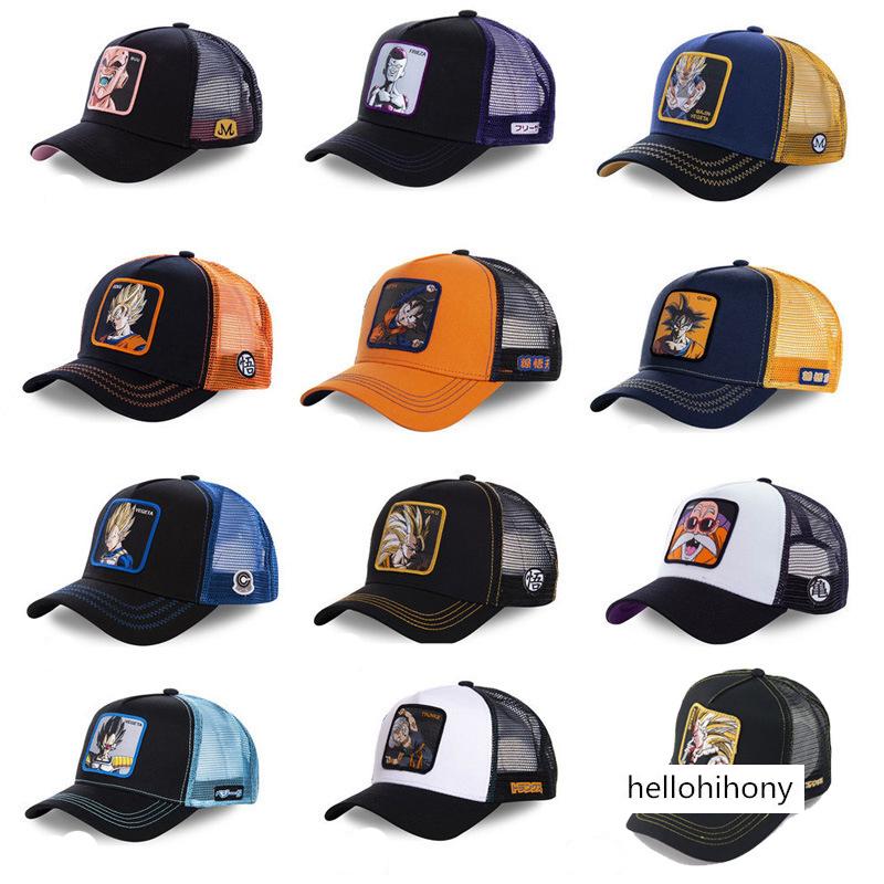 COOLGOOD Moto Metal Women Mens Summer Baseball Caps Mesh Cap Flat Bill Visor Hats
