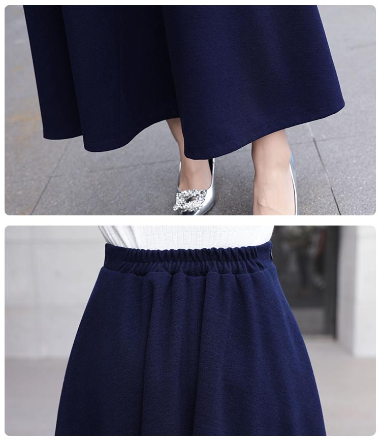 Long Skirt Women 2018 Jupe Longue Taille Haute High Waist Solid Autumn Winter Elegant Black Woolen Maxi Long Skirt A-Line 7