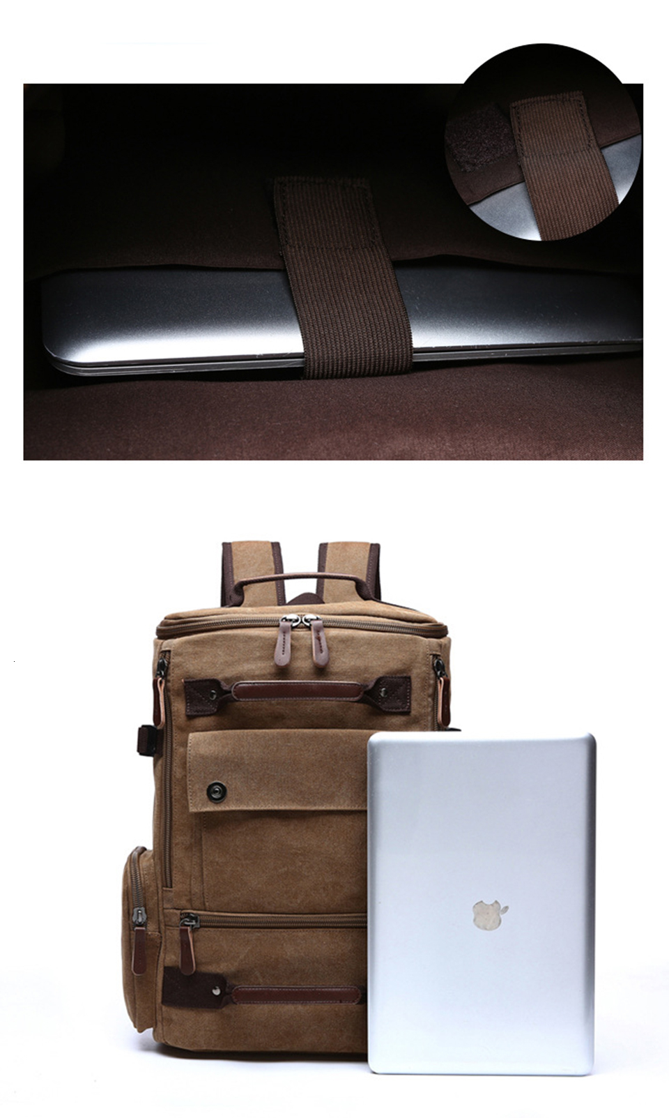 11 Canvas Backpack 15.6