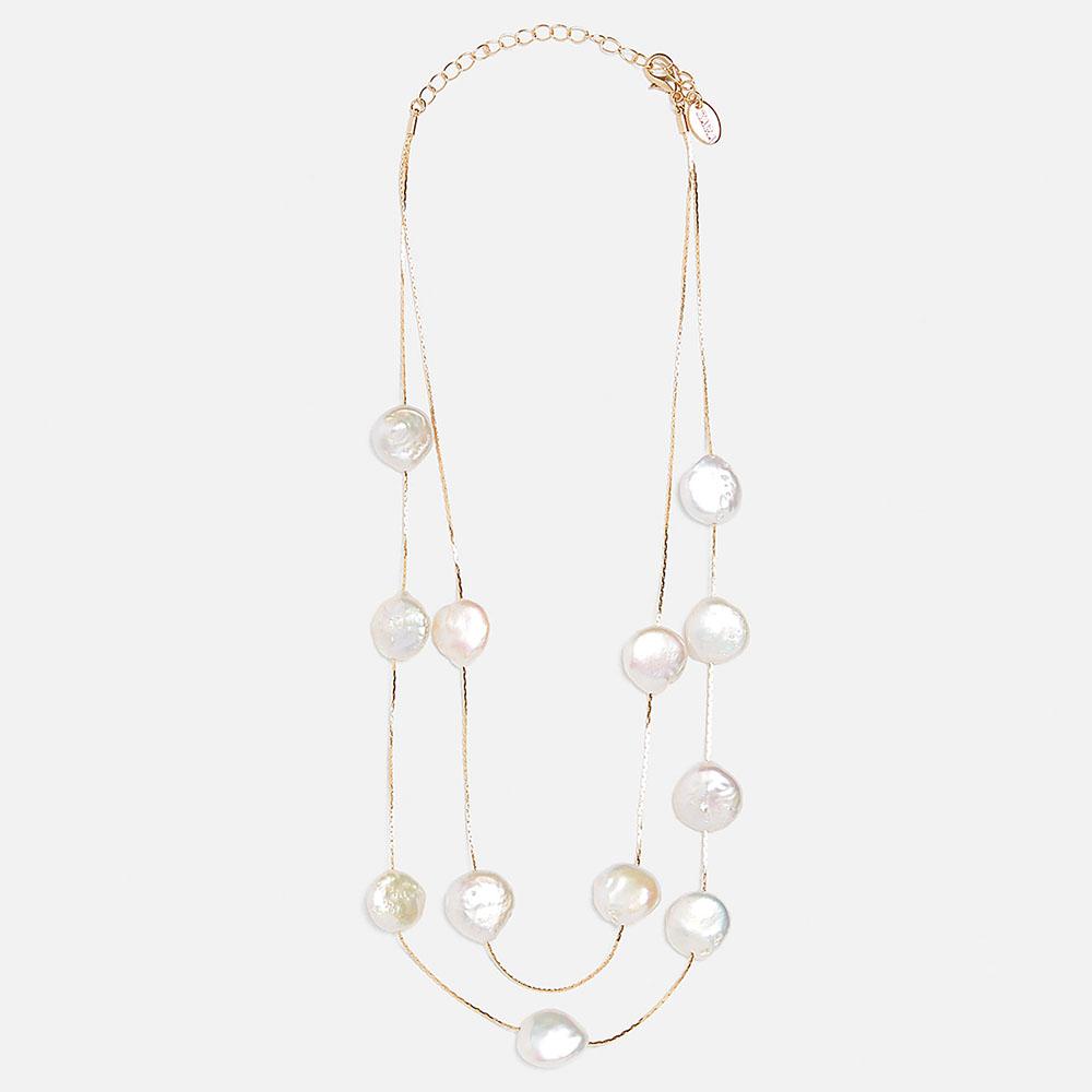 Reizvoll Süßwasserperlen Barock Stil für beiläufig Damen Perlenkette-Violett
