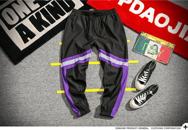 Loose Hip Hop Cargo Pants Men Camouflage Patchwork Harem Mens Trousers Streetwear (30)