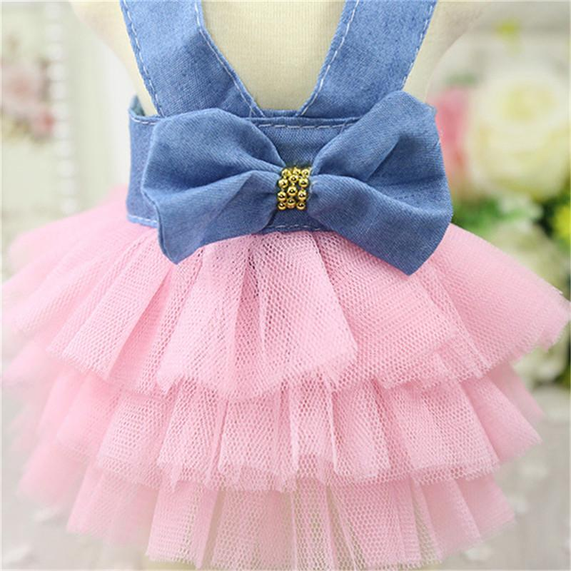 Summer Dog Dress Pet Dog Clothes for Small Dog Wedding Dress Skirt Puppy Clothing Spring Fashion Jean Pet Clothes05
