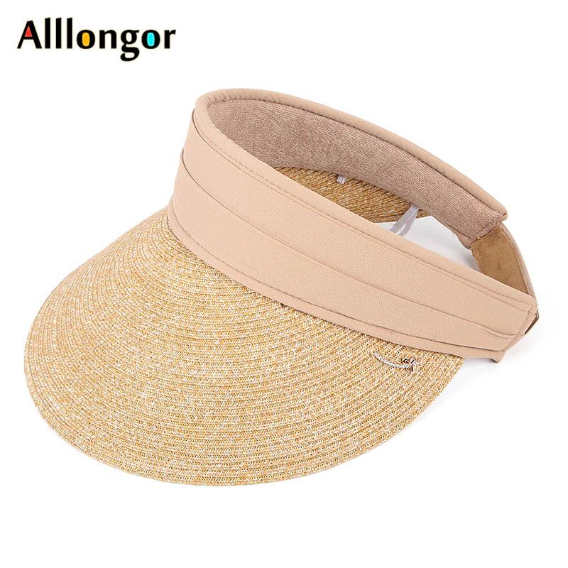 Sonnenhut Sommer Strandhut Anti-UV TYGRR Frauen Faltbarer Strohhut UPF 50