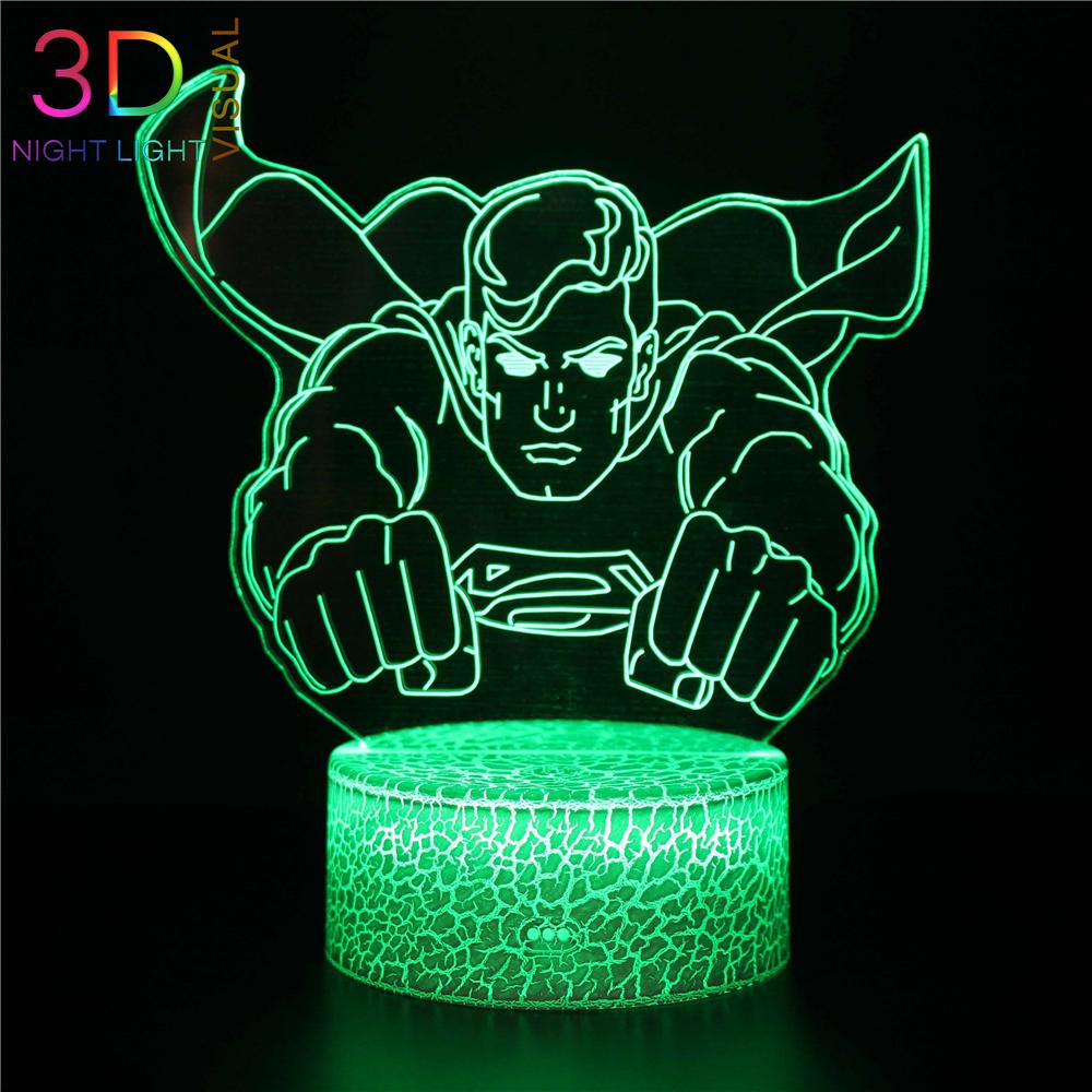 Batman 3D LED Nachtlicht DC Super Hero Tisch Schreibtischlampe Geschenk NEU 2018