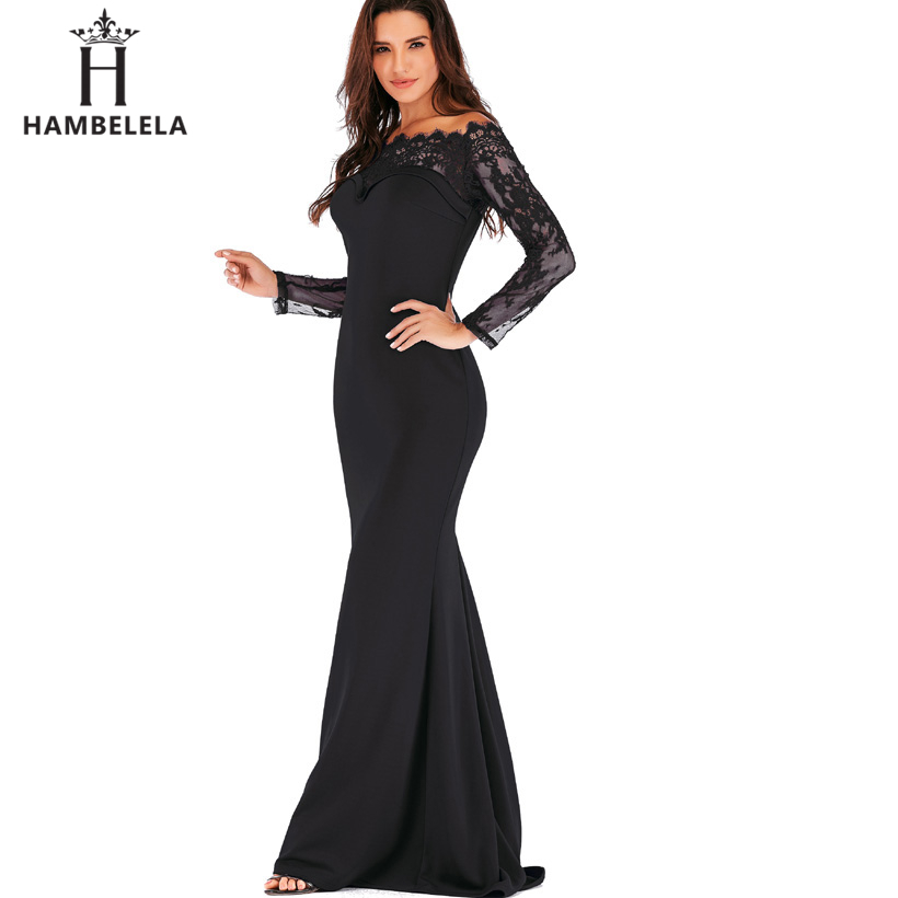 HAMBELELA Robe De Soiree Longue Long Sleeve Mermaid Evening Dresses Formal Evening Gowns China Vestido Longo Bodycon Lace Dress (10)
