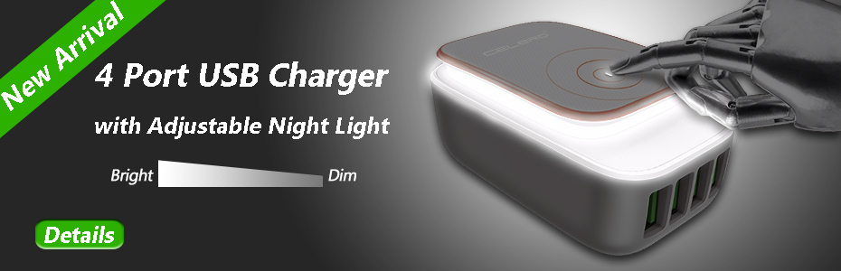 4 Port Charger - Night Light Version