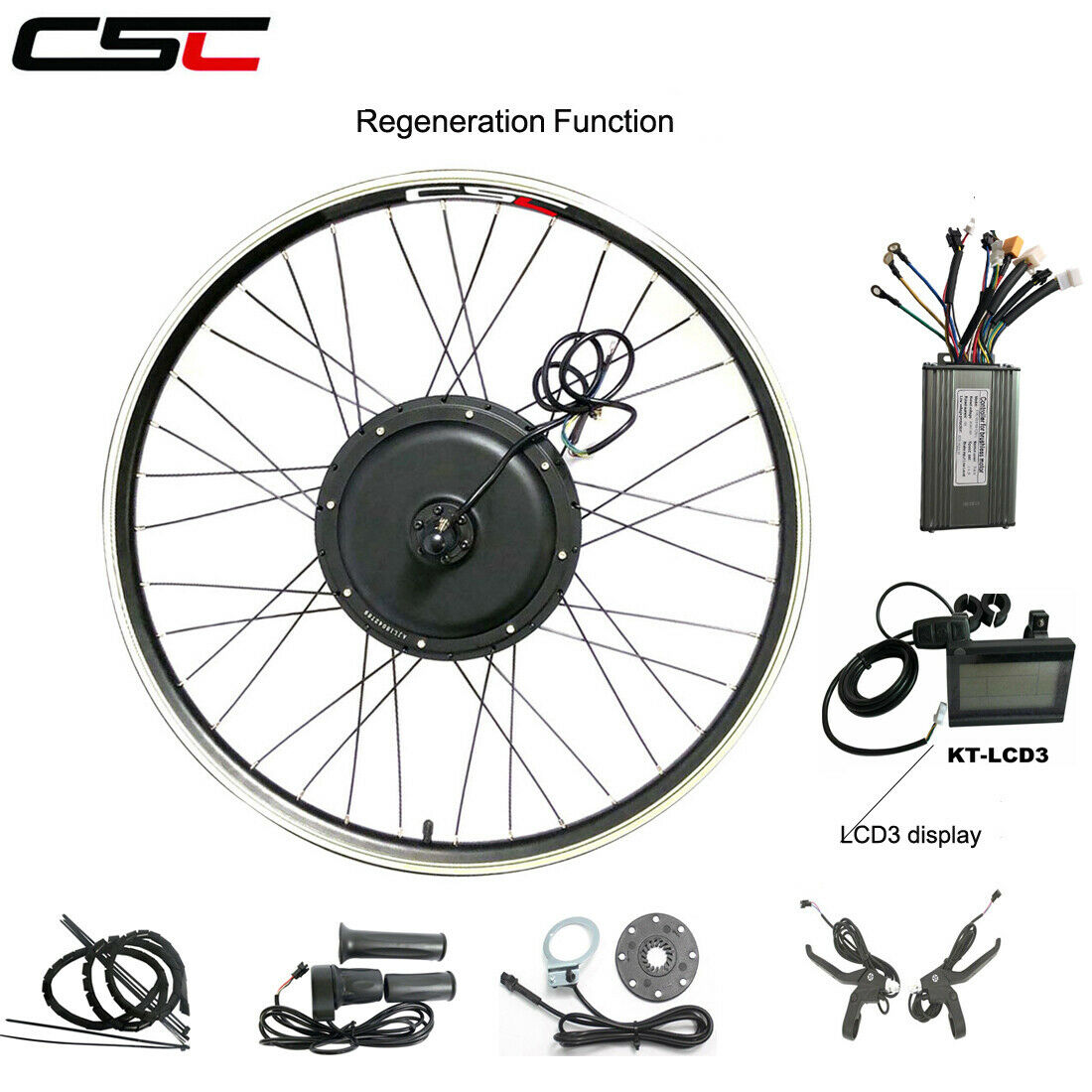 Electric bicycle Conversion Kit 36V 48V 250W 350W 500W 1000W 1500W Motor Wheel