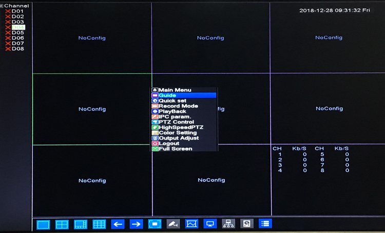 8mp/5mp/4mp/3mp/2mp/1mp IP Camera Blue Panel Hi3536C Xmeye 8CH*8M/8CH*4K 8 Channel H.265 48V WIFI POE Onvif NVR