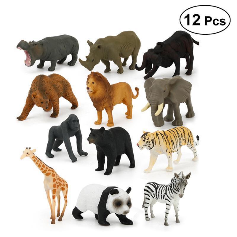 Simulazione Fauna Selvatica//Fattoria modello realistico Figure Animali Bambini Giocattolo Regalo di Plastica
