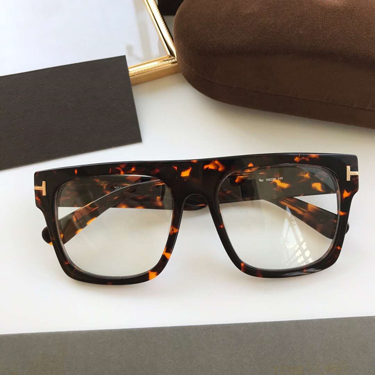 Newest Arrival FT0711Big- square glasses frame quality unisex plank prescription glasses frame 53-22-140 full-set case