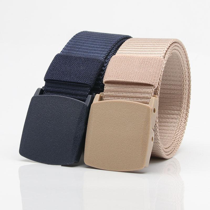 Zenph Nylon Belt Military Tactics Belt Canvas Plastic Buckle Uomo Cintura Tattica