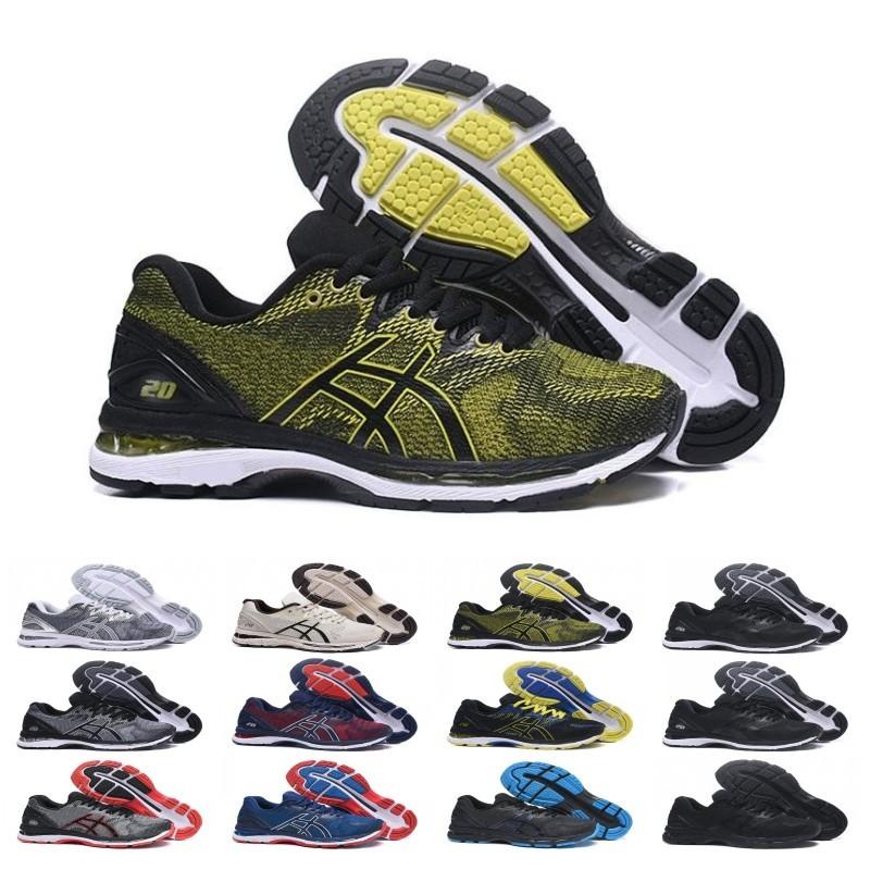 2019 GEL Nimbus 20 Stability Chaussures de course respirantes pour hommes noir blanc bleu rouge mens formateur mode baskets de sport coureur