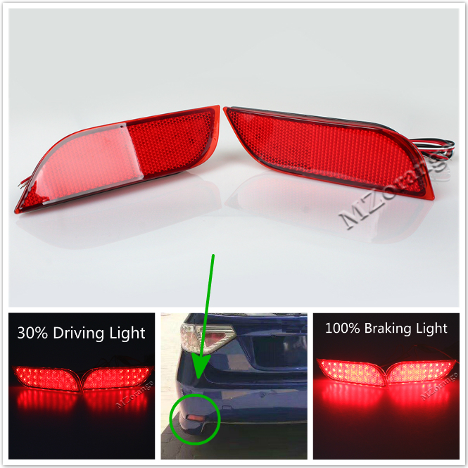 2x LED Bumper Reflector Red Lens Tail Stop Brake Light fit Lexus LX470 1998-07