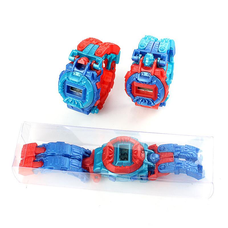 Deformazione dei bambini Robot Assemblato Building Blocks King Kong Puzzle creativo Bambino Giocattoli elettronici Reloj Relogio