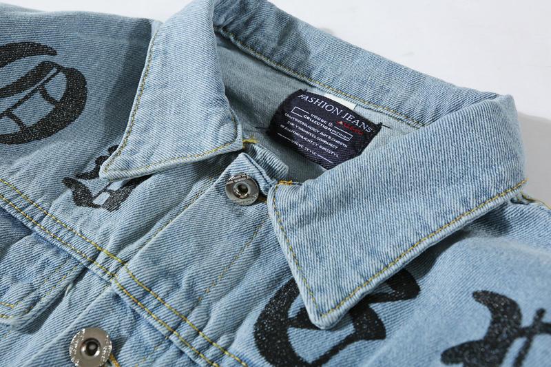 Diseñador de los hombres chaqueta de mezclilla con capucha Spring Antumn Motocicleta Causal hombres y mujeres Marca Denim con capucha estilo de lujo chaqueta de mezclilla