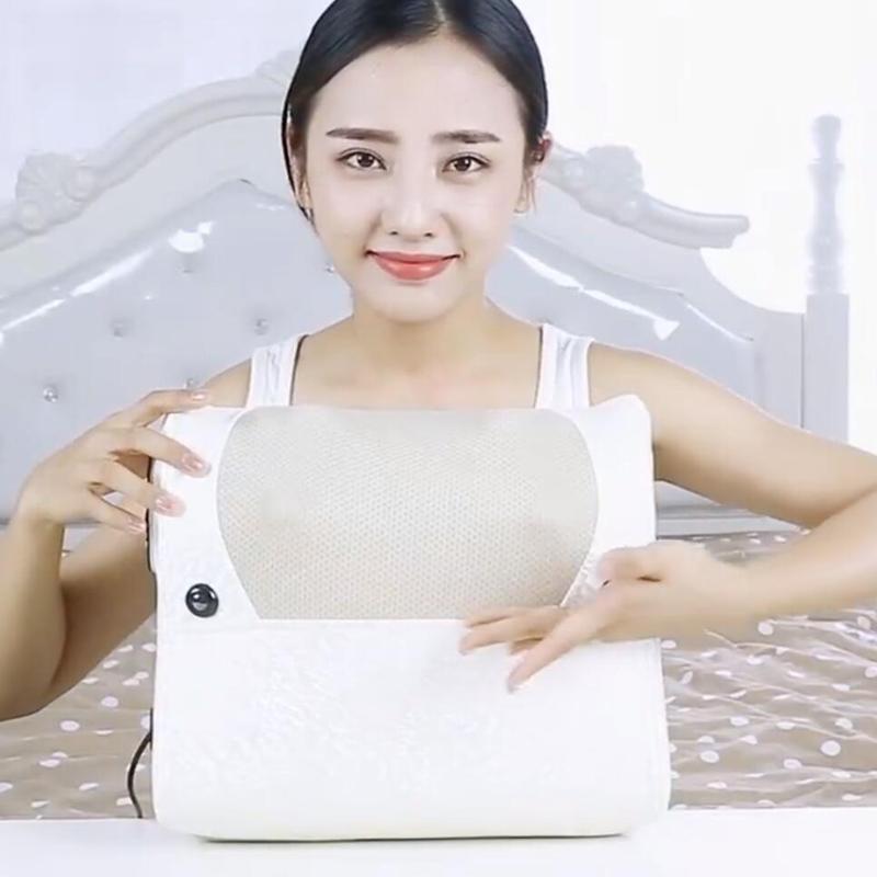 Shiatsu Massage Pillow fashion electric Massager for neck relax body Infrared Heating Shiatsu Massage products Relaxation