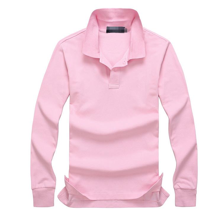 2019 New hot sale Polo Shirt Men Big small Horse Solid Long-Sleeve Summer Casual Polo Mens Slim Polos Casual Shirt