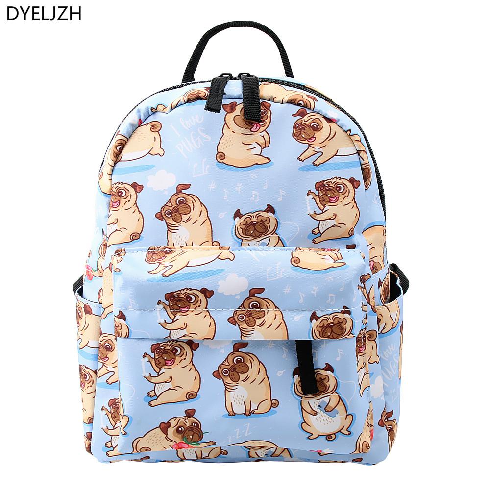 Folding Sport Backpack Portable Casual Daypacks Gym Bag Bad Pug