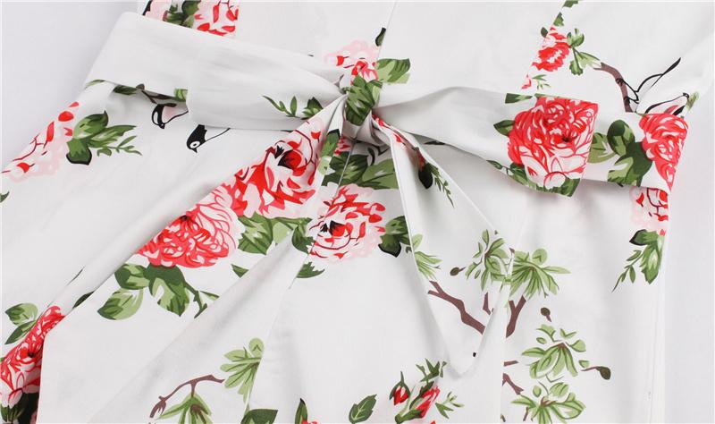 Kostlish 9 Style Print Summer Dress Women 2017 Sleeveless Swing 1950s Hepburn Vintage Tunic Dress Elegant Party Dresses Sundress (72)
