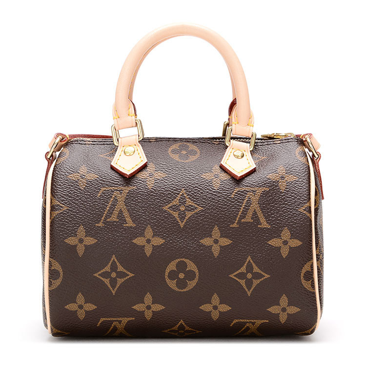 LouisVuitton / Louis Vuitton explosion models NANOSPEEDY mini bucket bag canvas / with leather M61252 (scheduled goods 2-3 weeks after delivery)