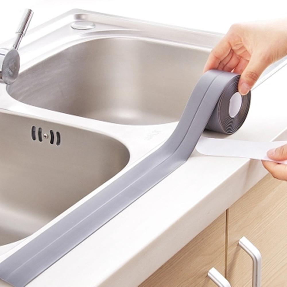 Lavello In Ceramica Da Cucina acquista autoadesivo adesivo in ceramica cucina autoadesivo adesivo anti  umidità in pvc adesivo muro del bagno angolo linea adesivi lavello 3.8 *  320