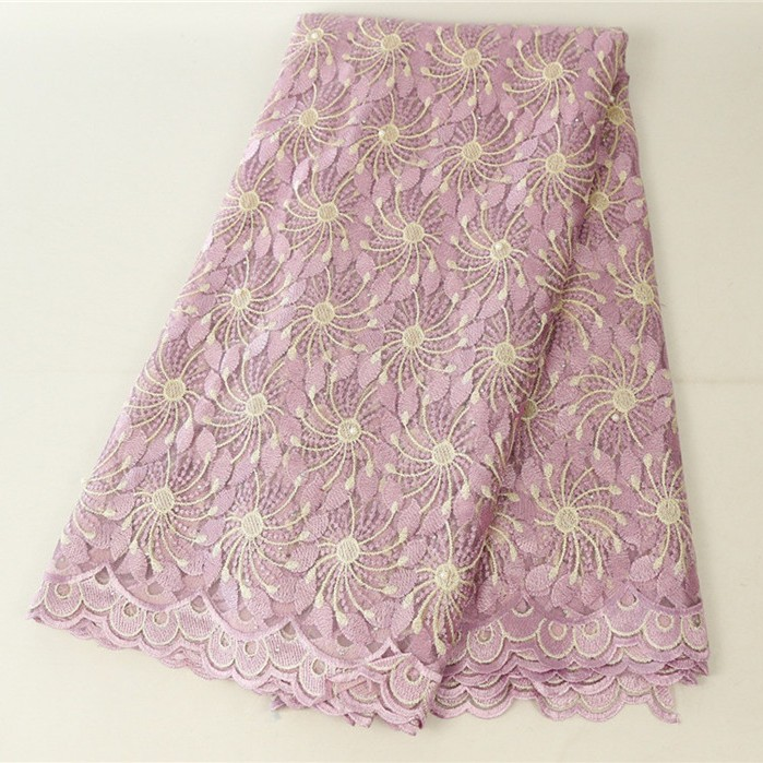 High Quality Made Hot Sell Dusty Pink Laces Fabrics African Laces