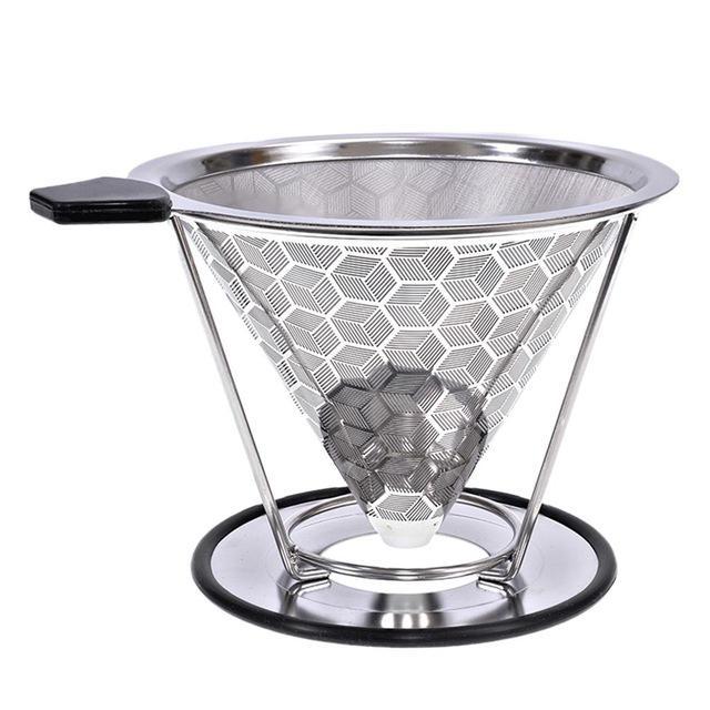 Réutilisable en acier inoxydable Filtre à café panier style permanent Metal Mesh Outils