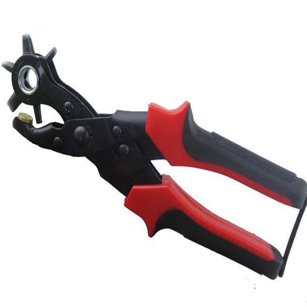 Puncher Pinza Cintura Girevole Lega Pinza Per Punzonatura Con Foro Tondo Maniglia Foro Punzonatura Per Scrapbooking Impugnatura Per Carta Artigianale PU Perforazione Perforazione