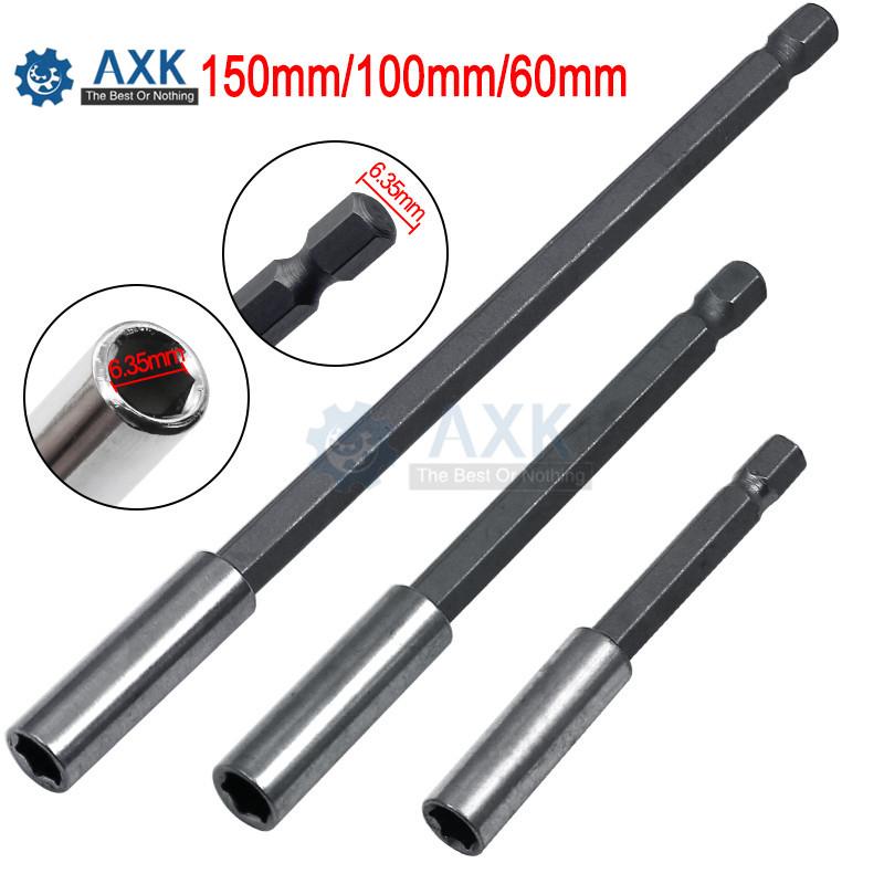 60 mm 1//4 pouces tige hex libération rapide Tournevis porte-embout Extension Bar 1PC