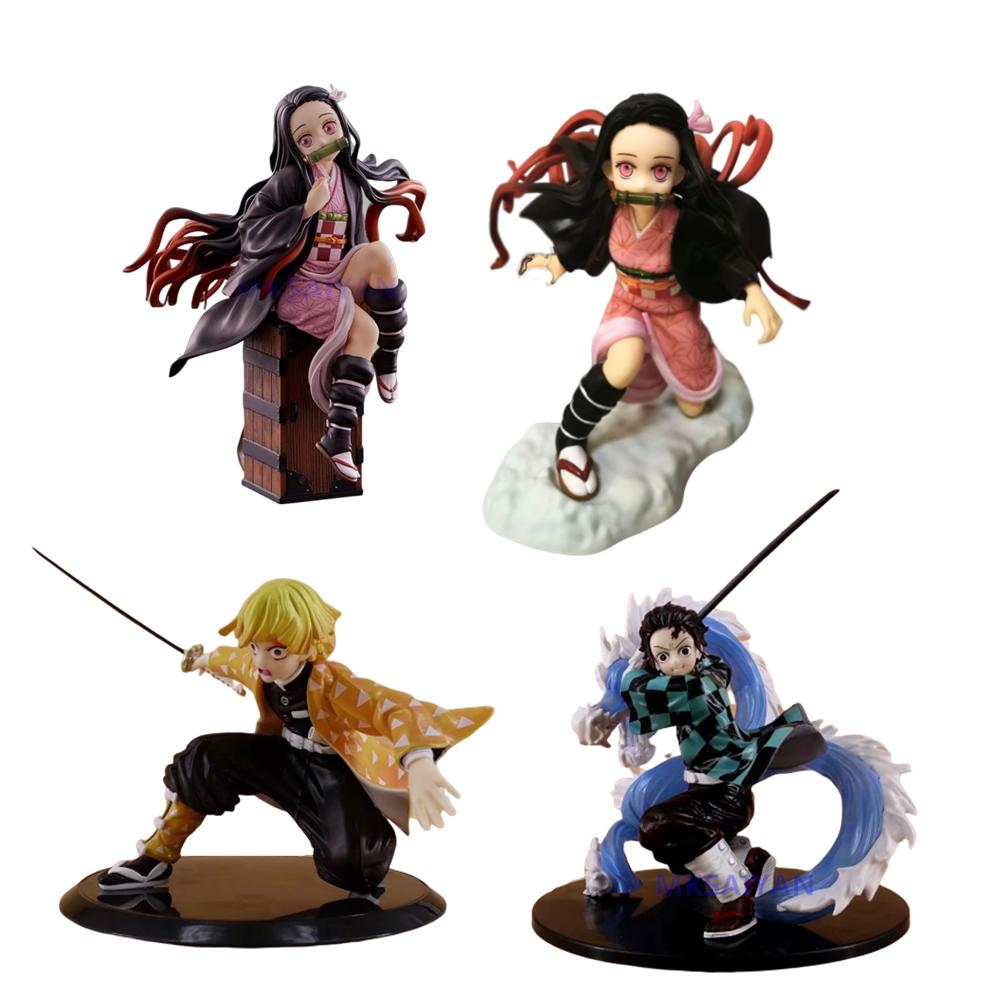 Kimetsu no Yaiba Action Anime Figures Kamado Tanjirou Nezuko Demon Slayer Zenitsu Figurine Model Collector Xmas Demonic Toy Doll